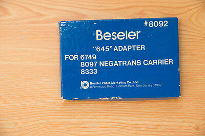 Beseler 8092  645 adapter  for negatrans carrier  - 23c enlarger