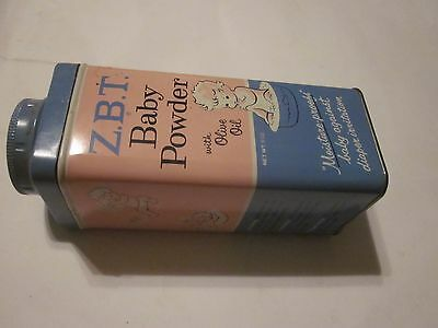 Vintage 1950's ZBT Baby Powder with Olive Oil Tin. Glenbrook Labs NY NY