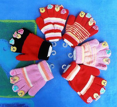 Gloves ~ Winnie & Piglet ~ Toddler to approx 4 Years ~ 30% Wool ~ Brand New