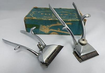 Vintage Burman Hair clippers x2 with collectable box