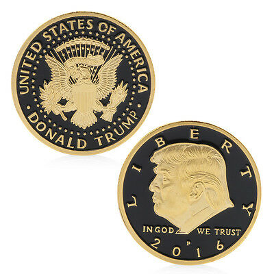 In God We Trust VS America President Donald Trump Commemorative Coin Souvenir