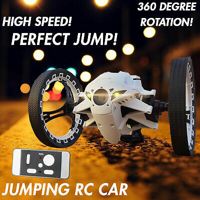 2.4GHz RC Bounce Car Jumping Sumo Toy Remote Control Spin Rotate LED light Gift