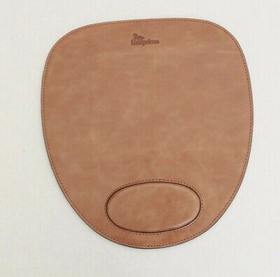Leather mouse mat computer mouse pad wrist protection genuine leather design mat