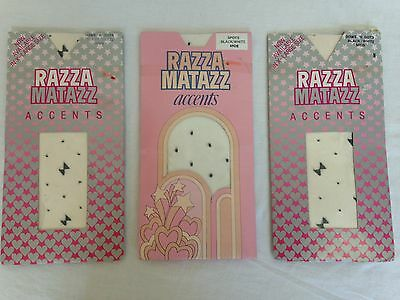 3 x Vintage Razzamatazz Accents patterned pantyhose black and white size mids