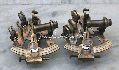 "2PCS 4"" BRASS SEXTANT Beautiful Solid Brass Marine Nautical ANTIQUE SEXTANT G."