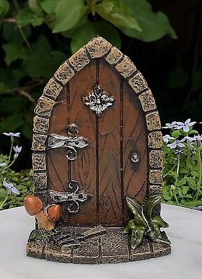 Miniature Dollhouse FAIRY GARDEN Gnome ~ Mini Door with Mushrooms ~ NEW