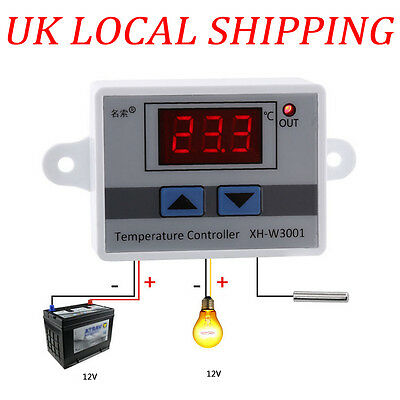12V Digital LED Temperature Controller Thermostat Control Switch Probe UK Seller