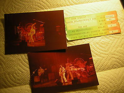 The Who  Ticket Stub 10-12-1982 W/unpublished Photos Original Keith Moon