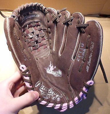 "Rawlings Fp110 Fast Pitch 3D Web 11"" Brown / Pink Baseball Glove Rht (Bx4)"