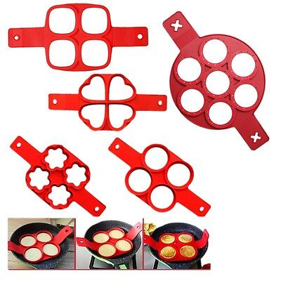 Nonstick Fried Egg Shaper Ring Pancake Mould Mold Cooking Kitchen Tool Silicone
