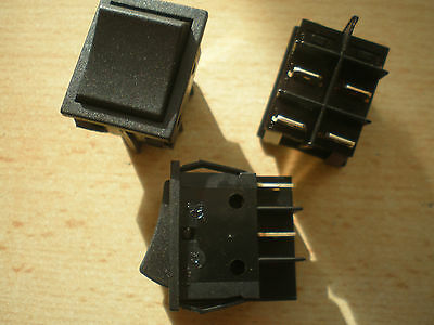 Mains Rocker switch DPST rated at 16 amps max   pack of 3  good quality    Z1056