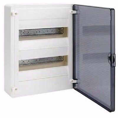 Hager ENCLOSURE 63A 400V 2-Rows 24-Poles Transparent Door-Surface Or Flush Mount