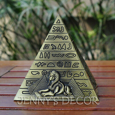 "Architecture Diecast Metal Replica 4"" Egyptian Pyramid Model Travel Souvenirs"