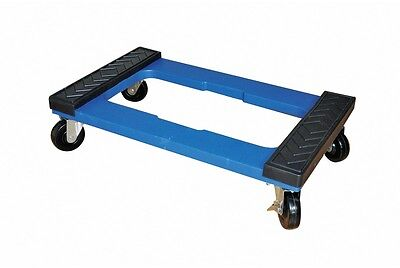 Milwaukee Polypropylene 1,000-lb Capacity Solid Rubber Blue Resin Dolly