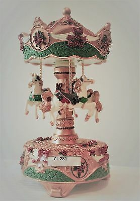"Christmas  Musical Carousel  21Cms/ 8.5""   Gift Present Bnib Plays Silent Night"