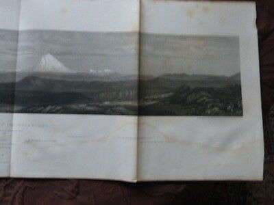 pacific railroad exploration Mount Shasta 1853 Litho Stahlstich
