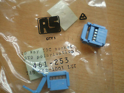 10 way IDC plug with strain relief   pack of 5   Z368