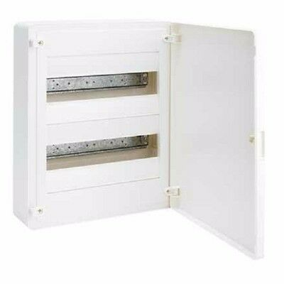 Hager ENCLOSURE 63A 400V 2-Rows 24-Poles, Opaque Cover - Surface Or Flush Mount