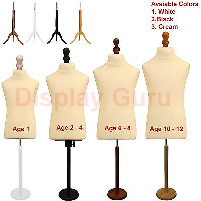 Child Kids Tailor Dummies Tailors Dummy Dressmakers Mannequin Bust Display