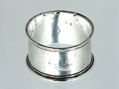 Silver Napkin ring by S.Blackensee & Son Ltd - English .925 solid silver 1946
