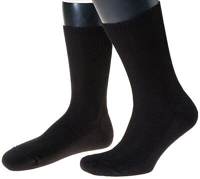 Blaue Woll-Socken, fein, Made in Germany 100% Schurwolle im 3er Pack, marine