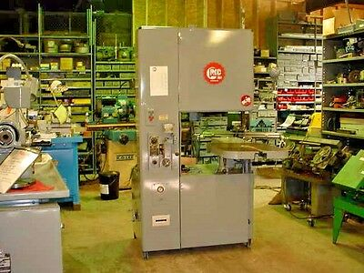 1978 Grob Model 4V-24 Vertical Vari Speed Band Saw Metal-Wood-Plastic