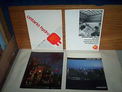 Ontario Hydro Public Utility News Canada Booklets : 4 Issues Lot of 1964 to 1969