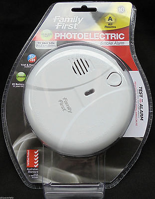 Smoke Alarm - Photoelectric -  10 Year Built In Lithium Battery