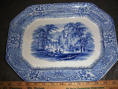 Geneva Heath  English Staffordshire Platter Transferware 19th Century