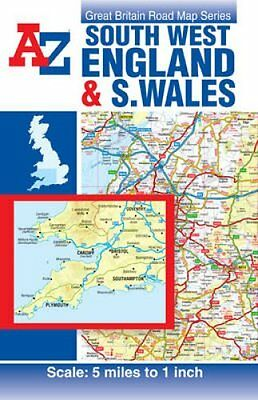 South West England & South Wales Road Map 9781782570738