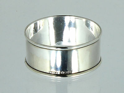 Silver Napkin ring by Henry Williamson Ltd - English .925 solid silver 1926