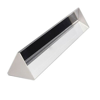 "6"" inch Optical Glass Triple Triangular Prism Physics Teaching Light Spectr U5O6"