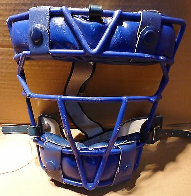 All Star Baseball, Cricket, Softball Blue Face Protector Mask (Bx4)