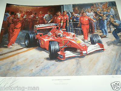 Michael Schumacher Autographed Signed Alan Fearnley Print Another Day At Office