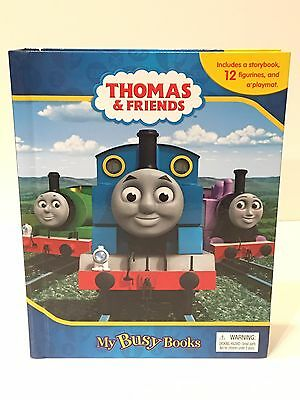 Thomas And Friends My Busy Book 12 Plastic Trains And Play-Mat