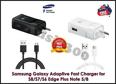 Genuine Samsung Galaxy S8 / S9 / S10 Note8 9 Fast Wall Charger+USB Type-C Cable