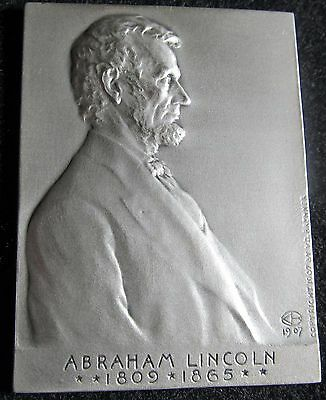 Abraham Lincoln/Victor D. Brenner - Medallic Art Co. Silver Plaquette