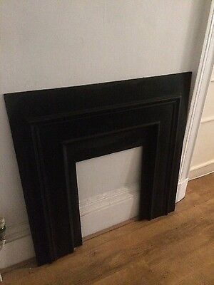 Beautiful cast iron fireplace antique