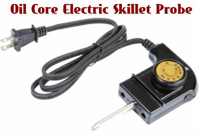 Precise Heat Oil Core Electric Skillet Heat Control w/Recipe Instruction booklet
