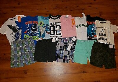 NWT Boys Spring / Summer Clothes Lot SIZE 5 / 5T Shorts S/S Shirts L@@k