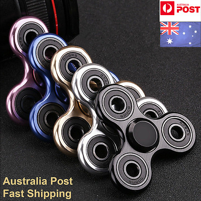 EDC Tri-Spinner Fidget Hand Finger Spinner Focus Toys Gifts For Kid/Adults AU