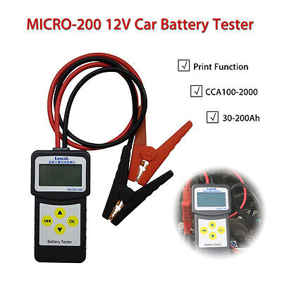 MICRO-200 Car 12V Vehicle Battery Analyzer Testers Diagnostic Tool 30-200Ah New