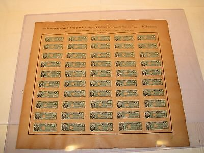 150+ Antique Norfolk & Western Railroad Paid Matured Gold Mortgage Coupons 1891