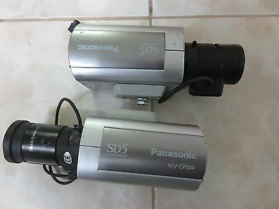 Lot Of 2 Panasonic Wv-Cp504 Color Security Cameras