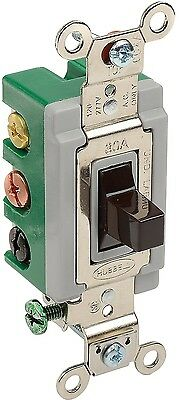 Bryant 3025BRN Toggle Switch Double Pole Double Throw 30A 120/277V AC Brown New