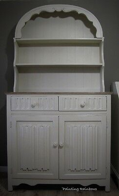 Shabby chic dutch dresser, old charm, painted,annie sloan,old white