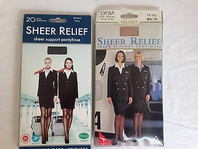 Kolotex sheer relief pantyhose 2 packs 2 colours size Tall  / Ex Tall