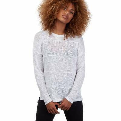 T-shirt manches longues Get In Lines femme white