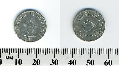 Honduras 1991 - 20 Centavos Nickel Plated Steel Coin - Indian Chief Lempira