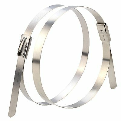 Stahl STAINLESS STEEL CABLE TIE 10Pcs High Tensile Strength-7.9x370,520 Or 840mm
